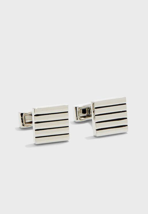 Pinstripe Square Cuff Links