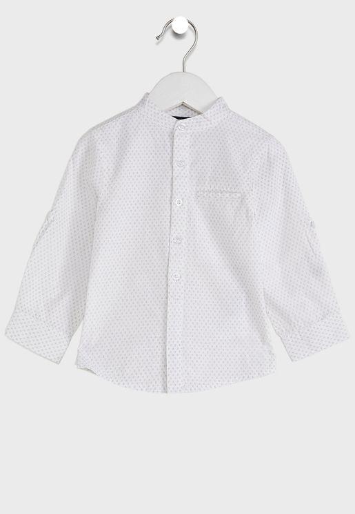 Infant Grandad Collar Shirt