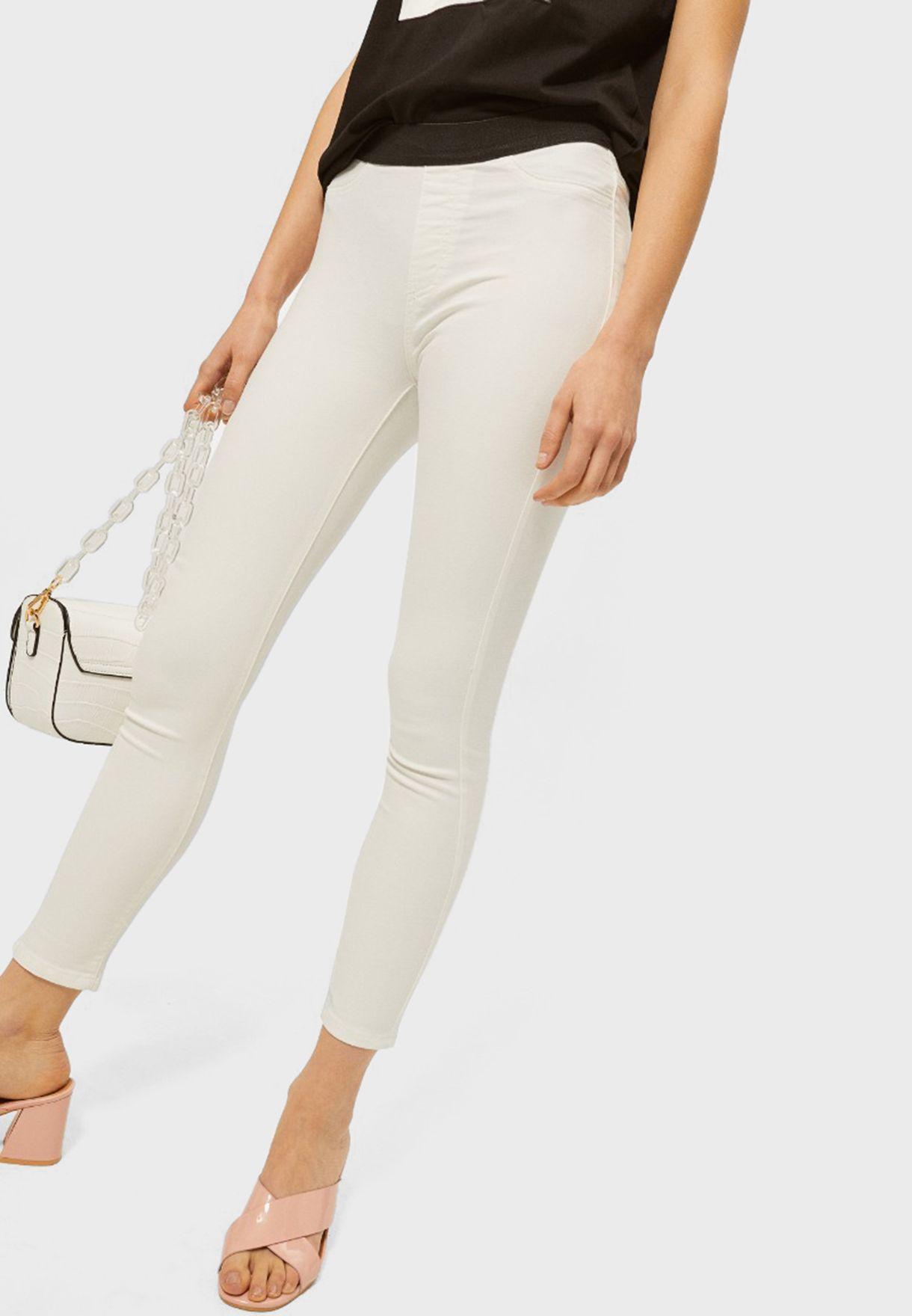 بنطال جيغنز مزين بشقوق