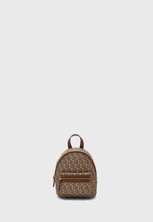 Casey Front Zip Detail Backpack