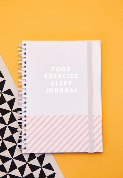 Food Exercise Sleep Notebook