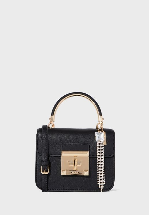 Ebblemead Top Handle Chain Detail Crossbody