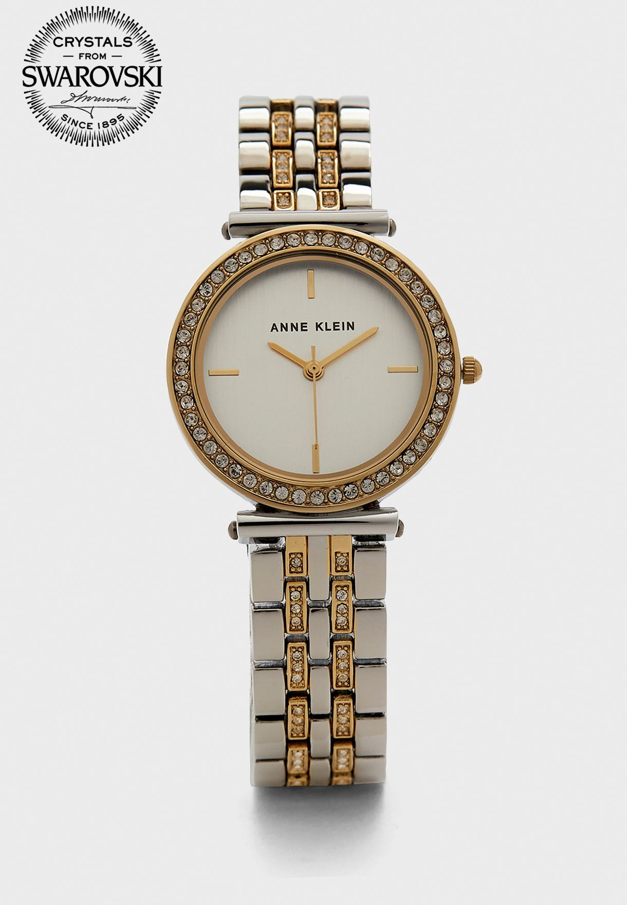 Two Tone Steel Strap Watch