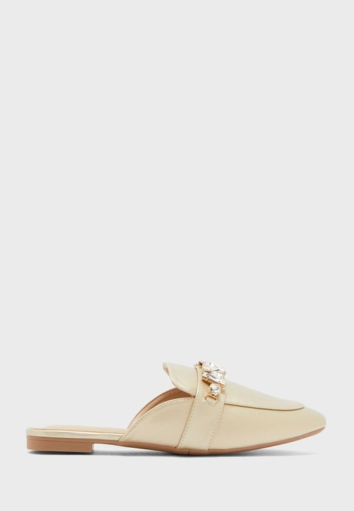 Stone Detail Flat Slip On