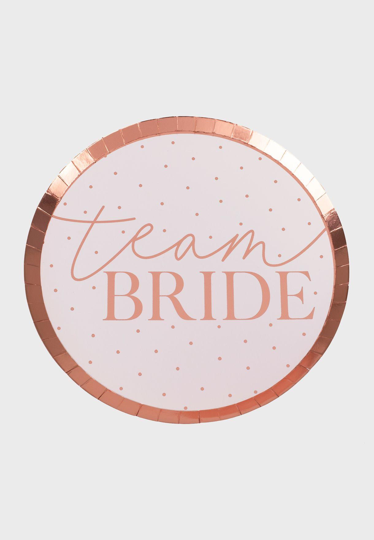 Team Bride Plate