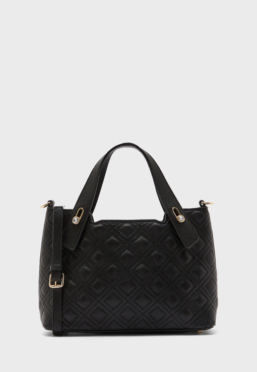 Leather Quilted Tote