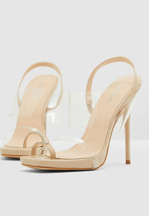 Risky Biz Back Ankle Perspex Sandal