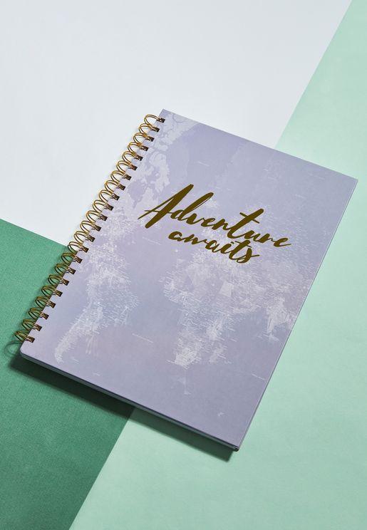 دفتر محاضرات بطبعات ميتاليك