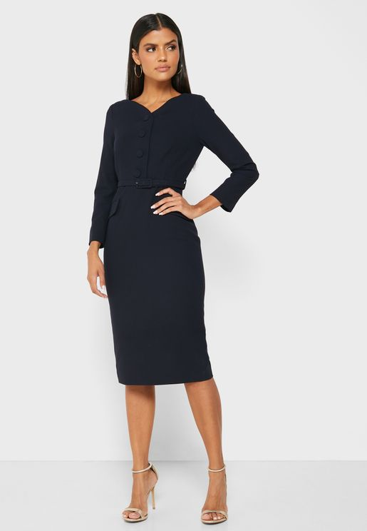 Dr Peggy Sweetheart Neck Bodycon Dress