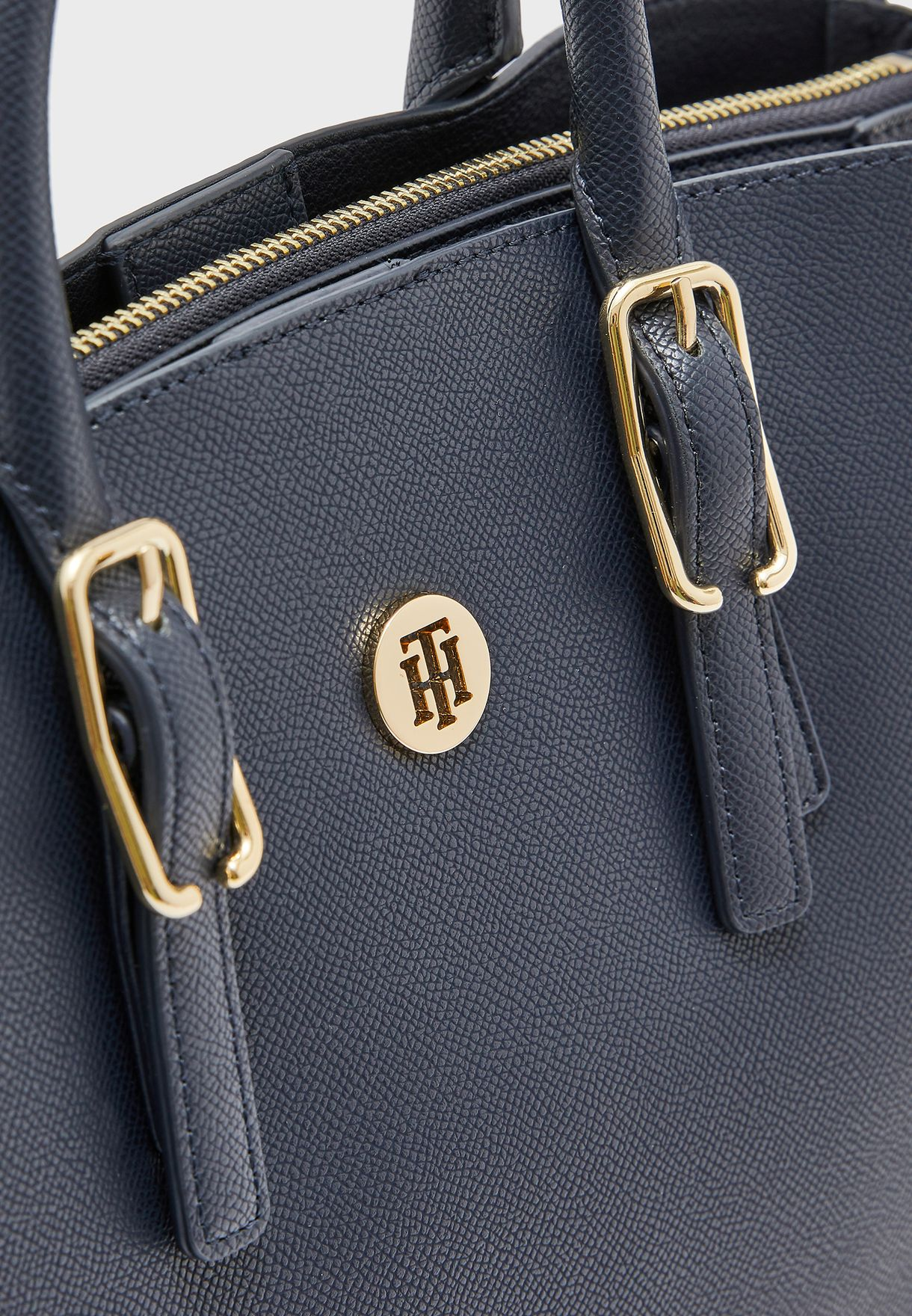 Logo Buckle Satchel