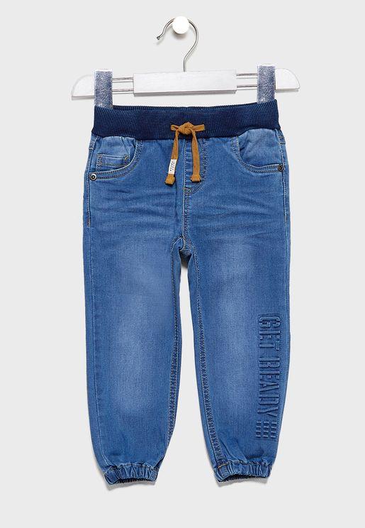 جينز باربطة للاطفال