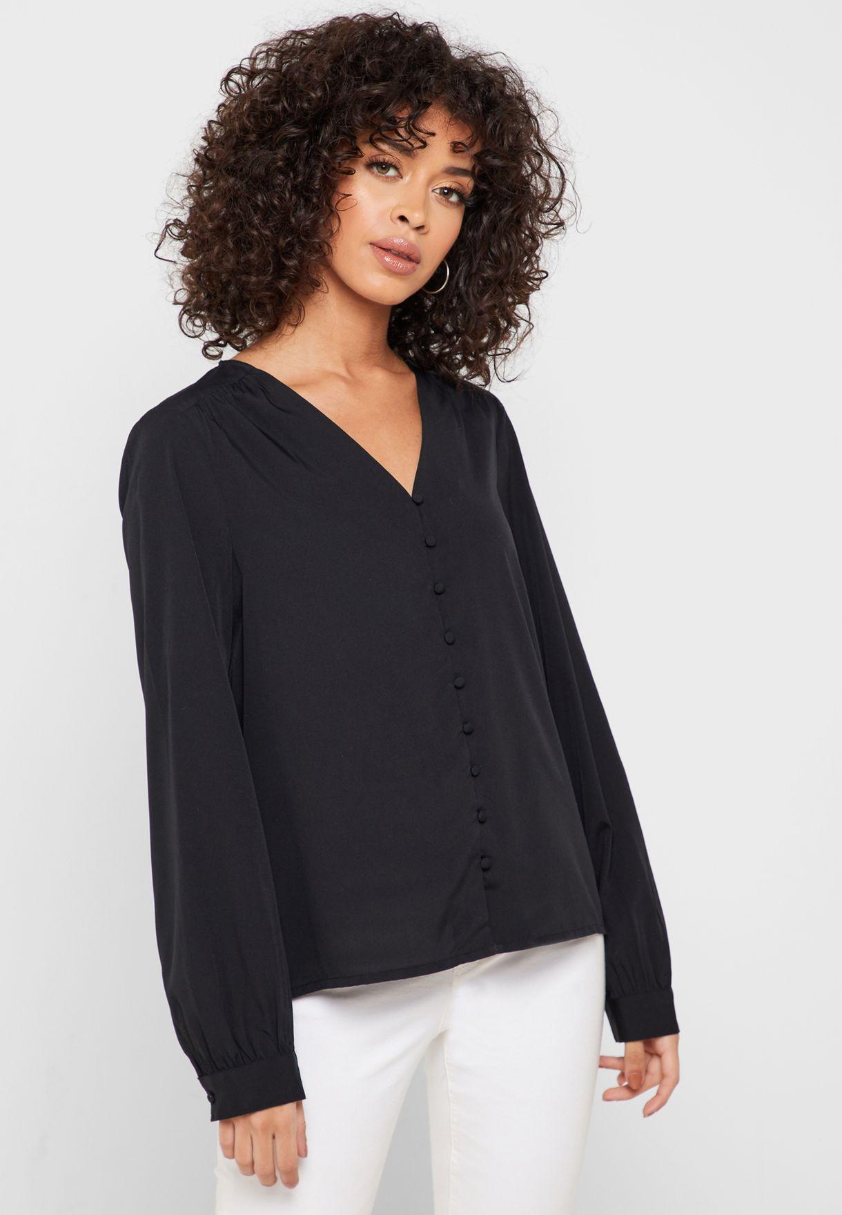 V-Neck Long Sleeve Shirt
