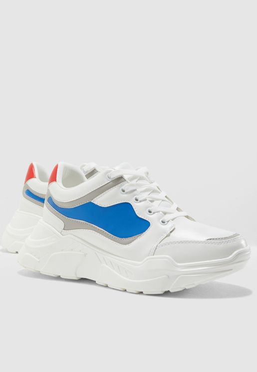 67e623c7b23933 Colourblock Chunky Sneakers