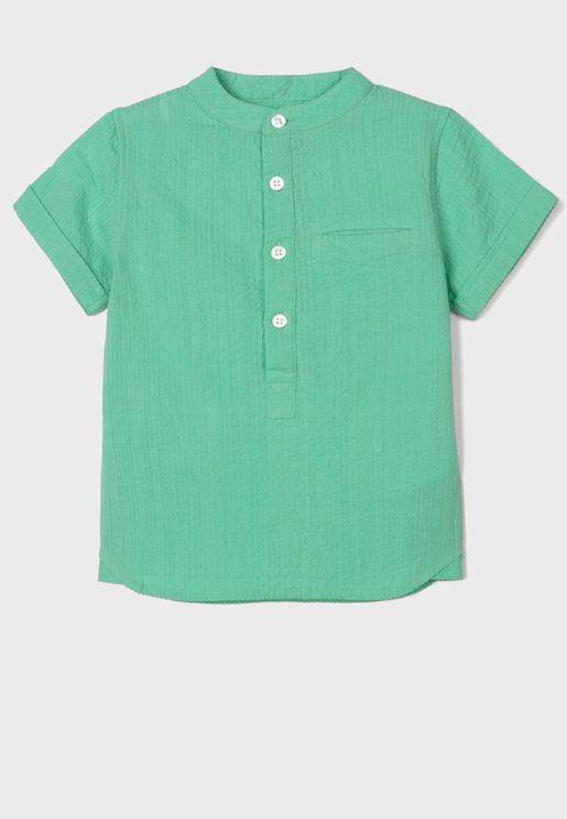 قميص بجيب امامي