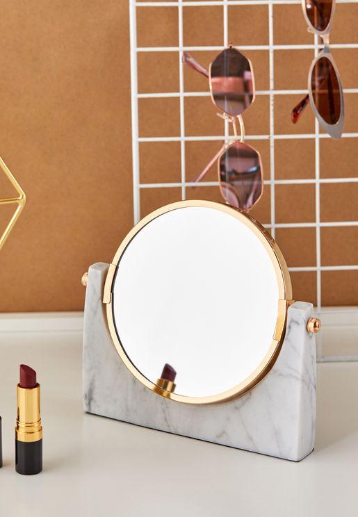 مرآة وجهين بتصميم رخامي