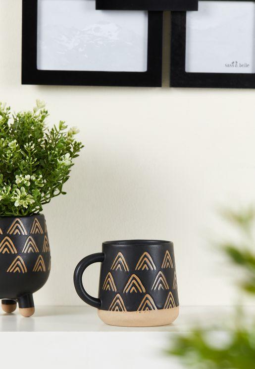 Boho Triangle Print Mug