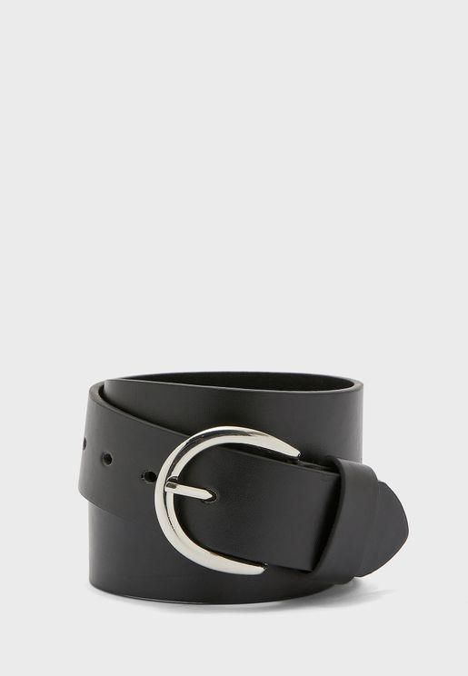 Curve Buckle Jeans Belt
