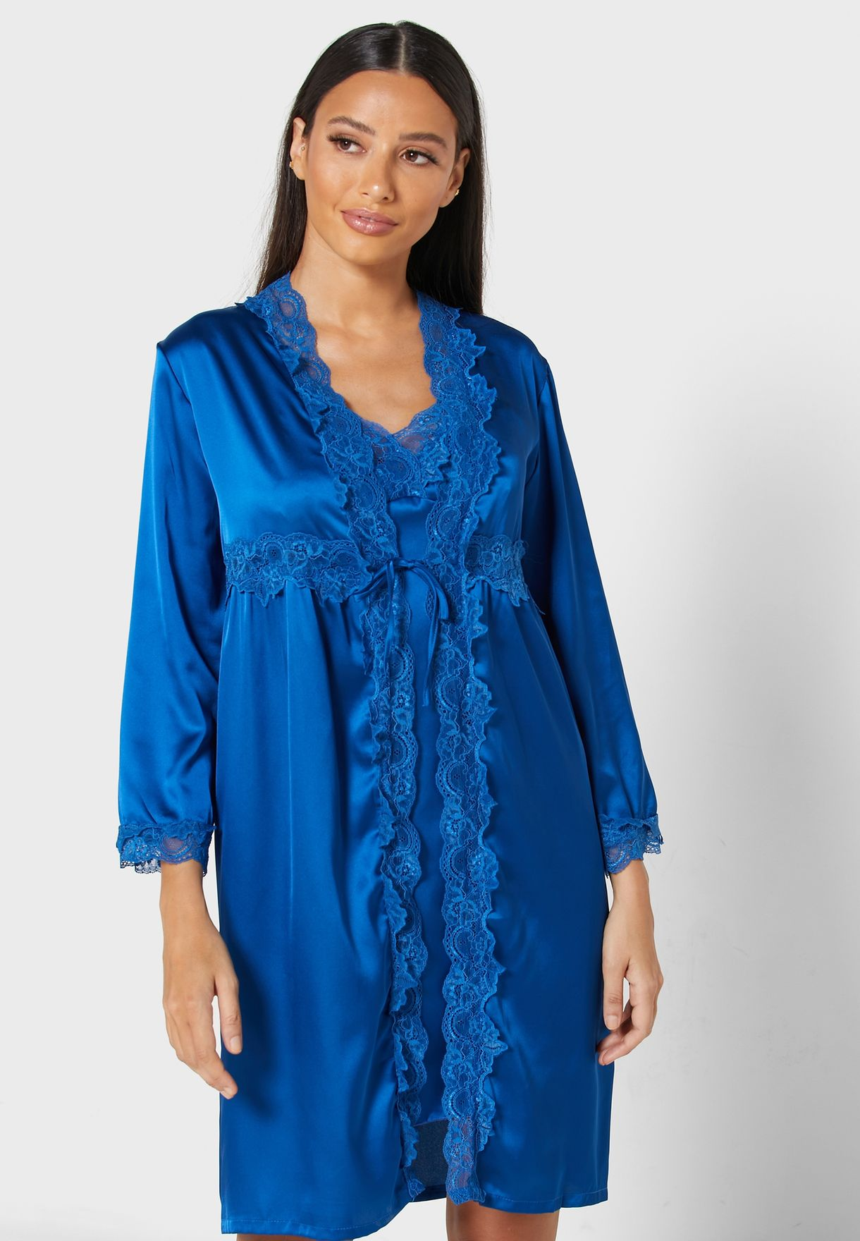 2 In 1 Nightdress With Robe