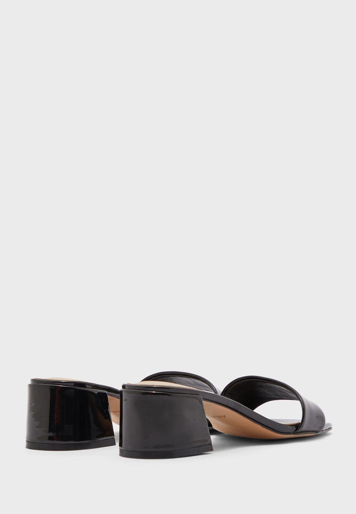 Reina Wide Strap High Heel Sandal