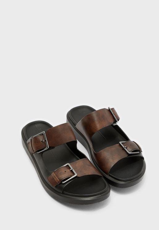 Flowt Buckle Detail Sandal