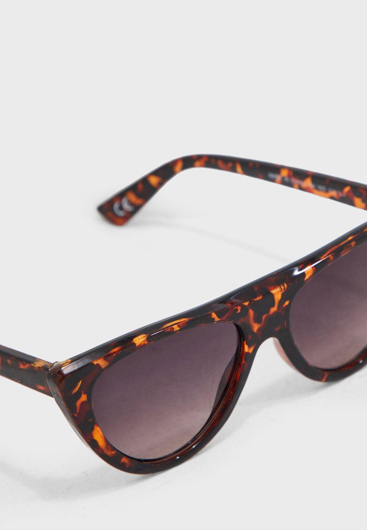 Flateye Flattop Cateye Sunglasses