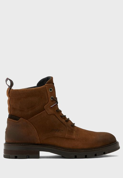 Padded Suede Boots