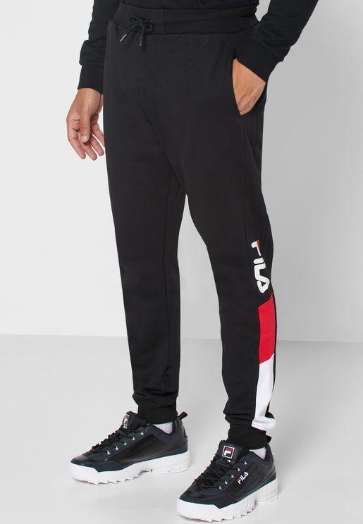 Graphic Colour Block Cuffed Sweatpants
