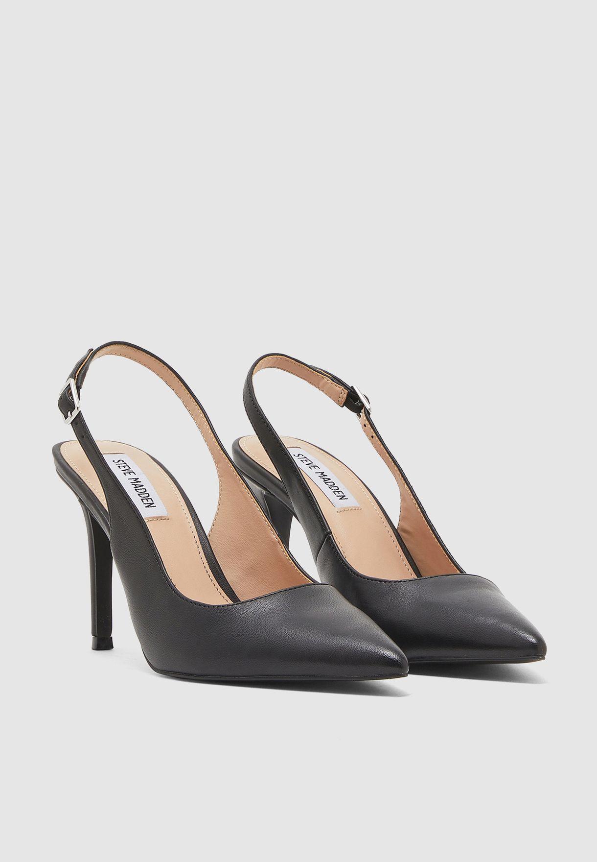 Macey Ankle Strap Pump - Black