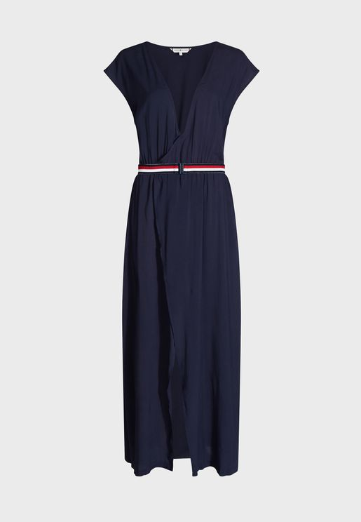 فستان بحر بنمط لف