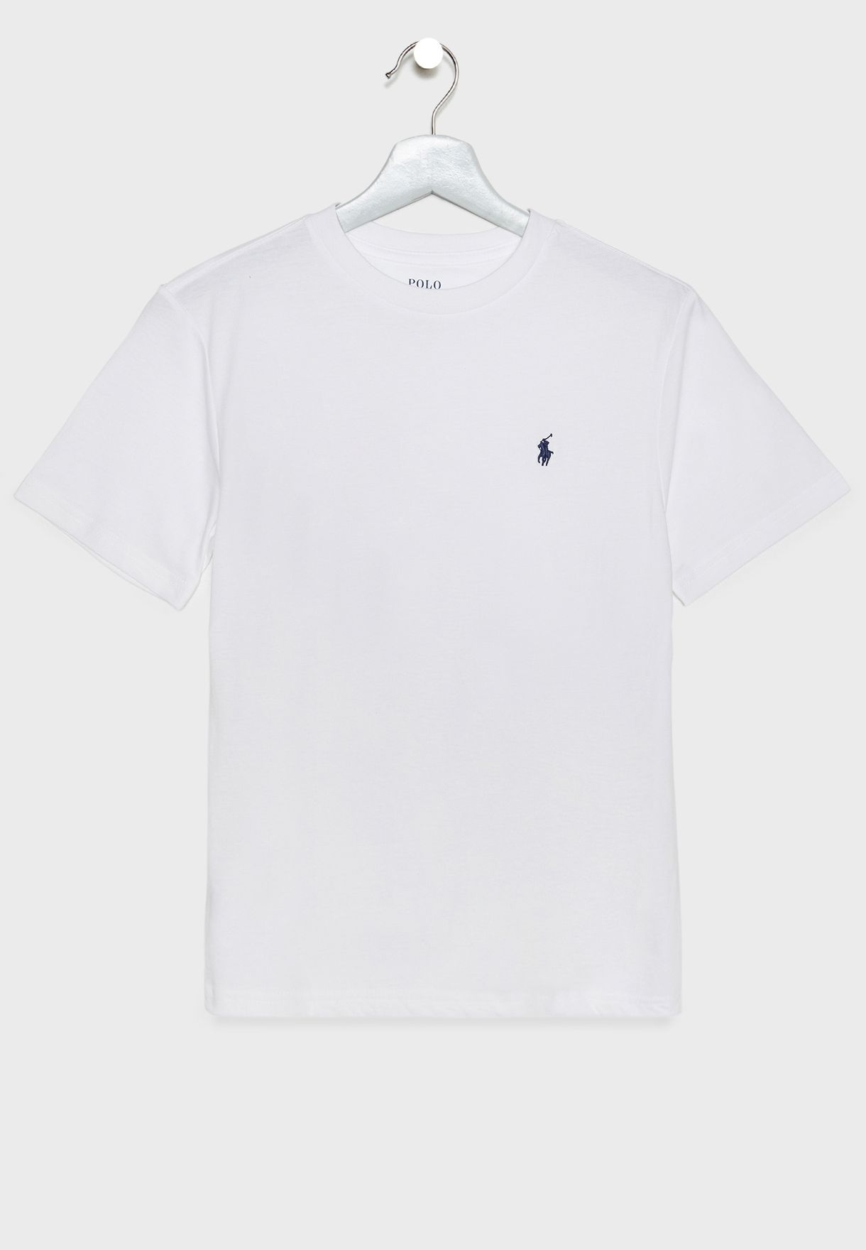 Shop Polo Ralph Lauren White Kids Logo T Shirt 324e11 For Kids In