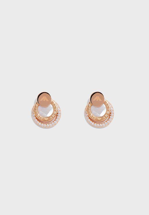 EG3431221 Logo Studded Earrings
