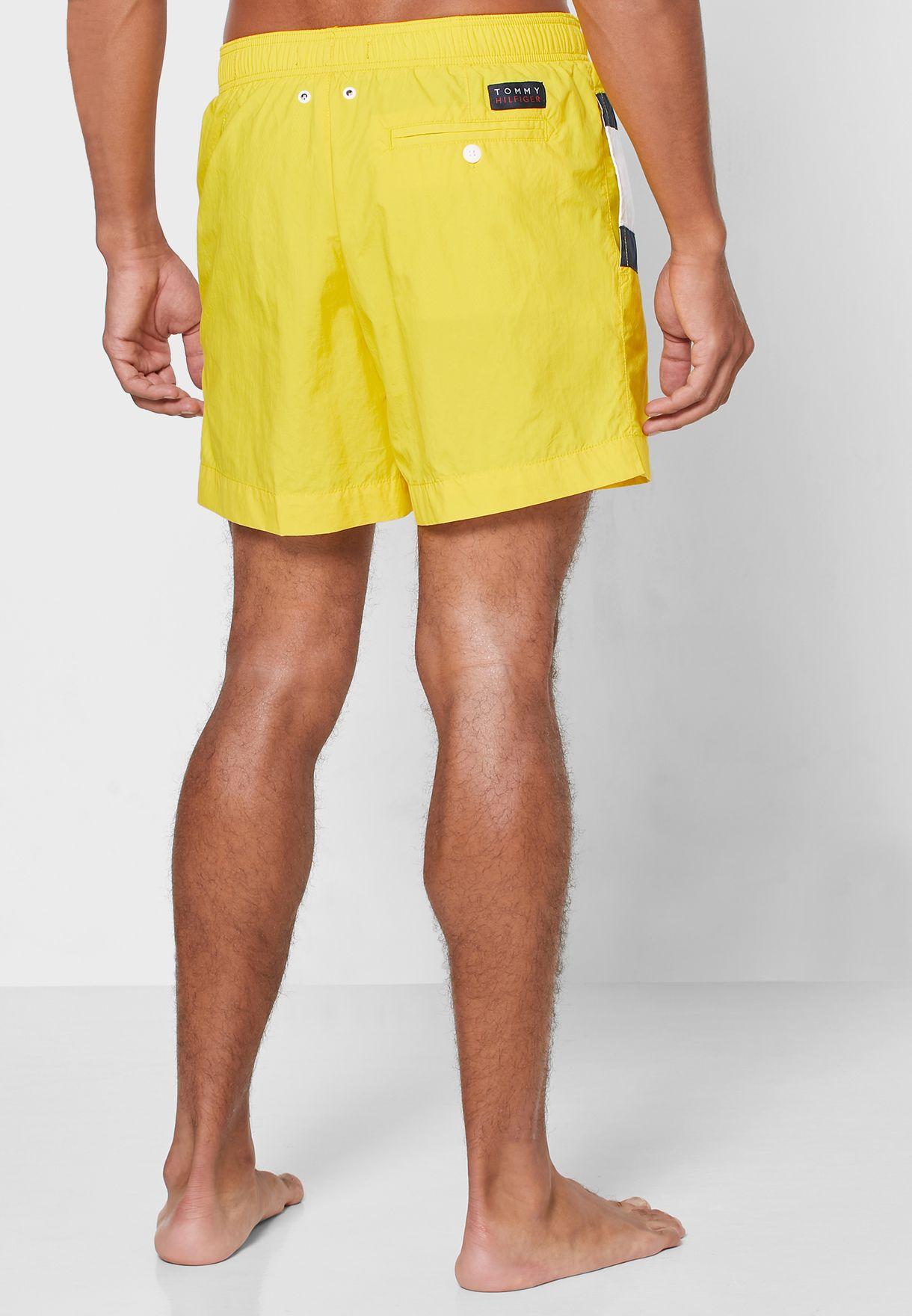 Color Block Drawstring Swim Shorts