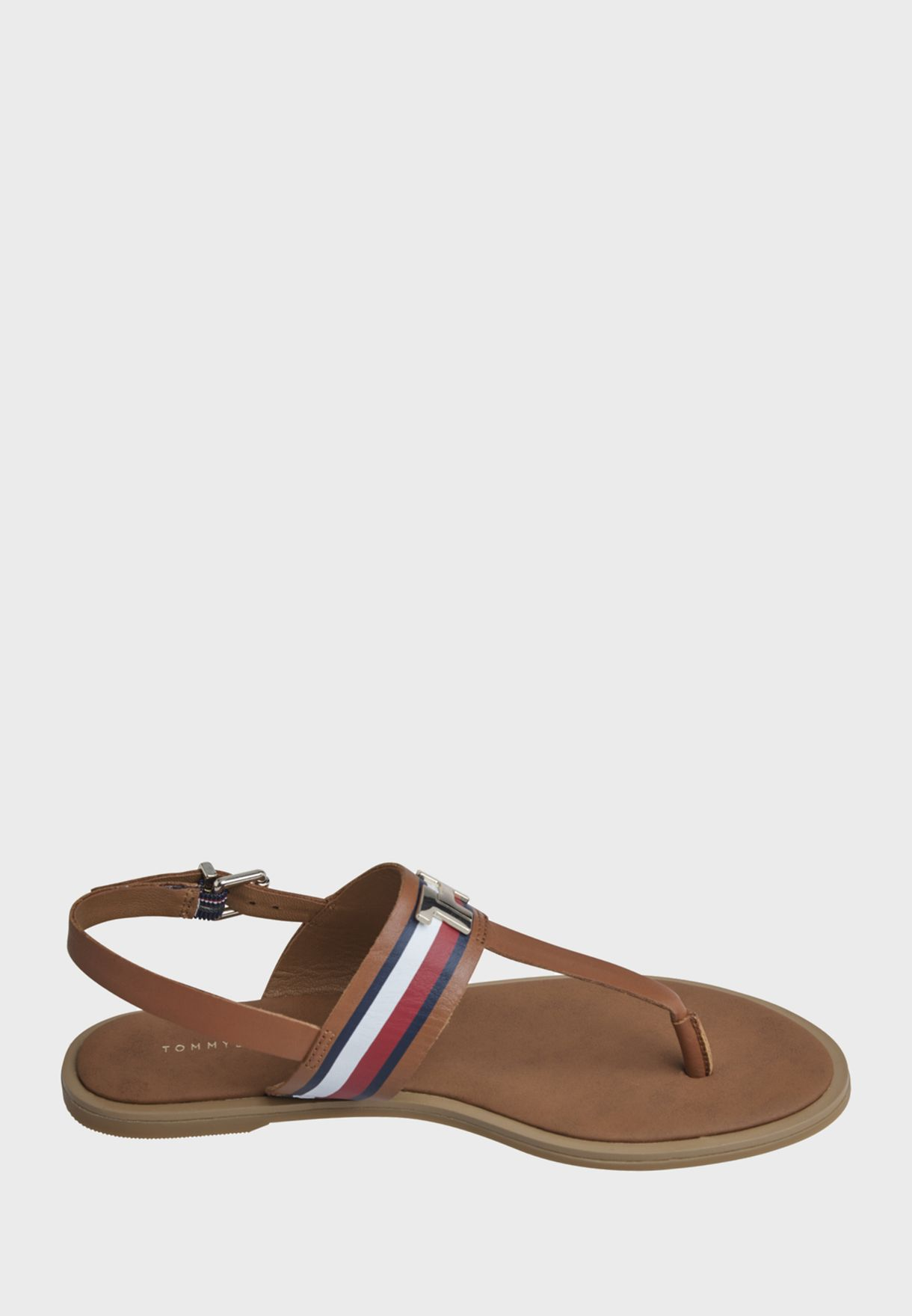 Corporate Leather Flat Sandal - GU9