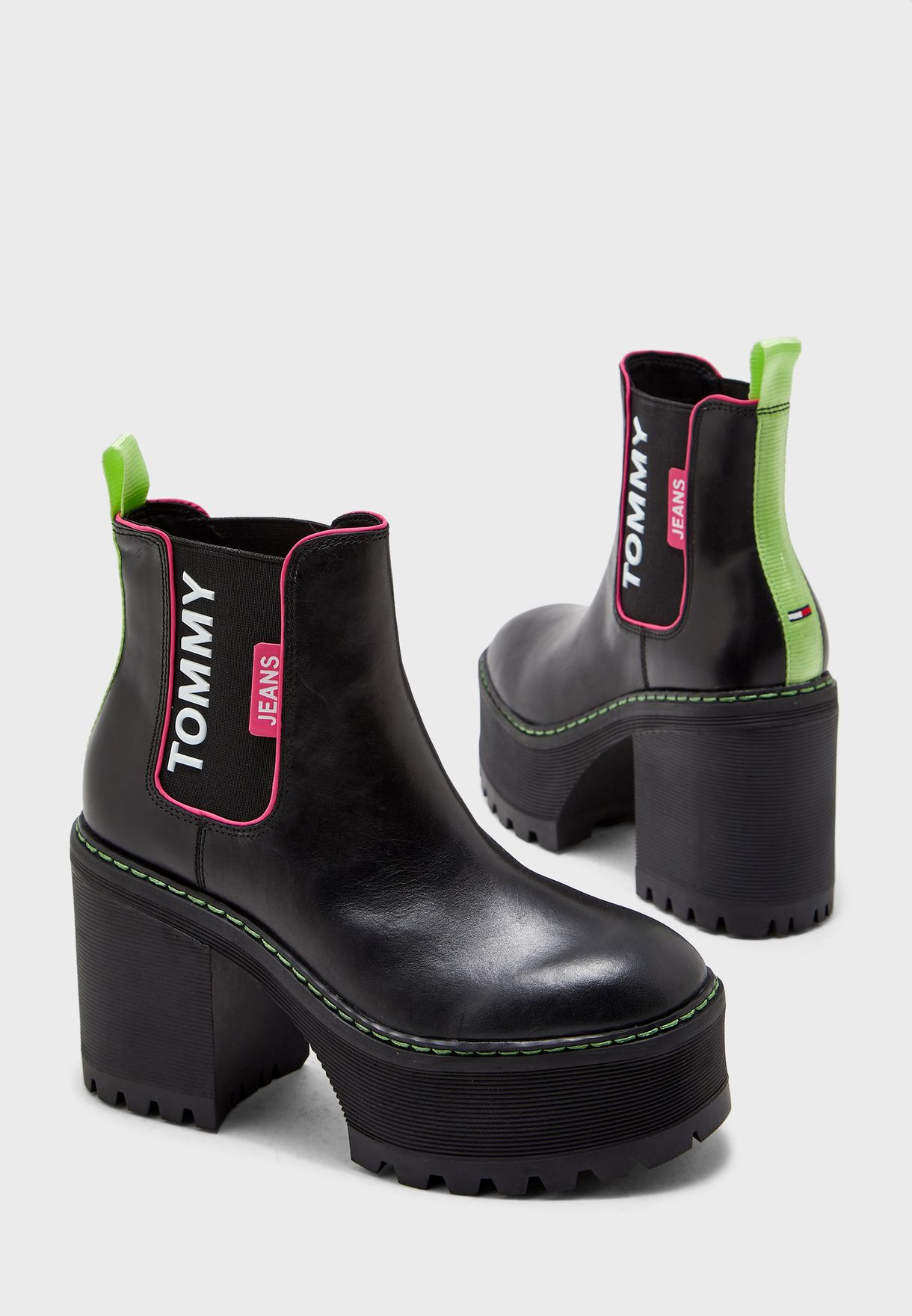 Chelsea Cleated Heeled Boot