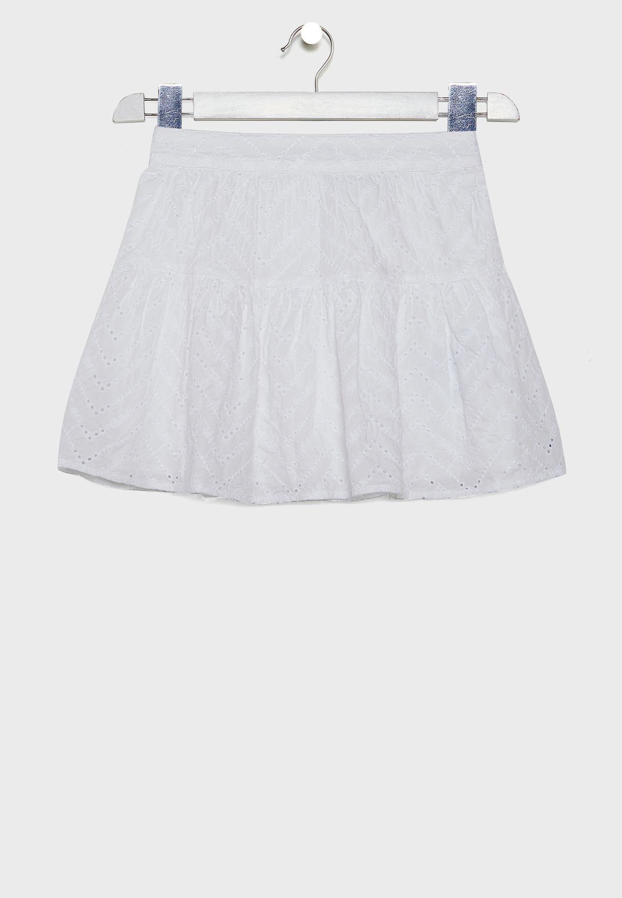 Teen Broderie Anglaise Skirt