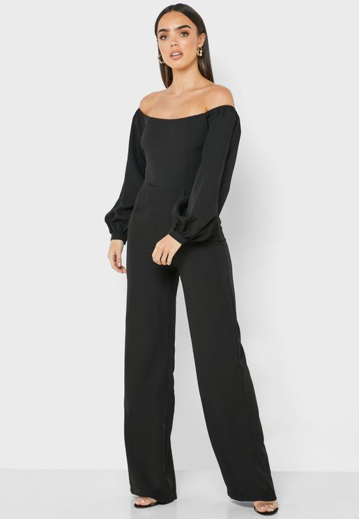 Bardot Lace Up Back Jumpsuit