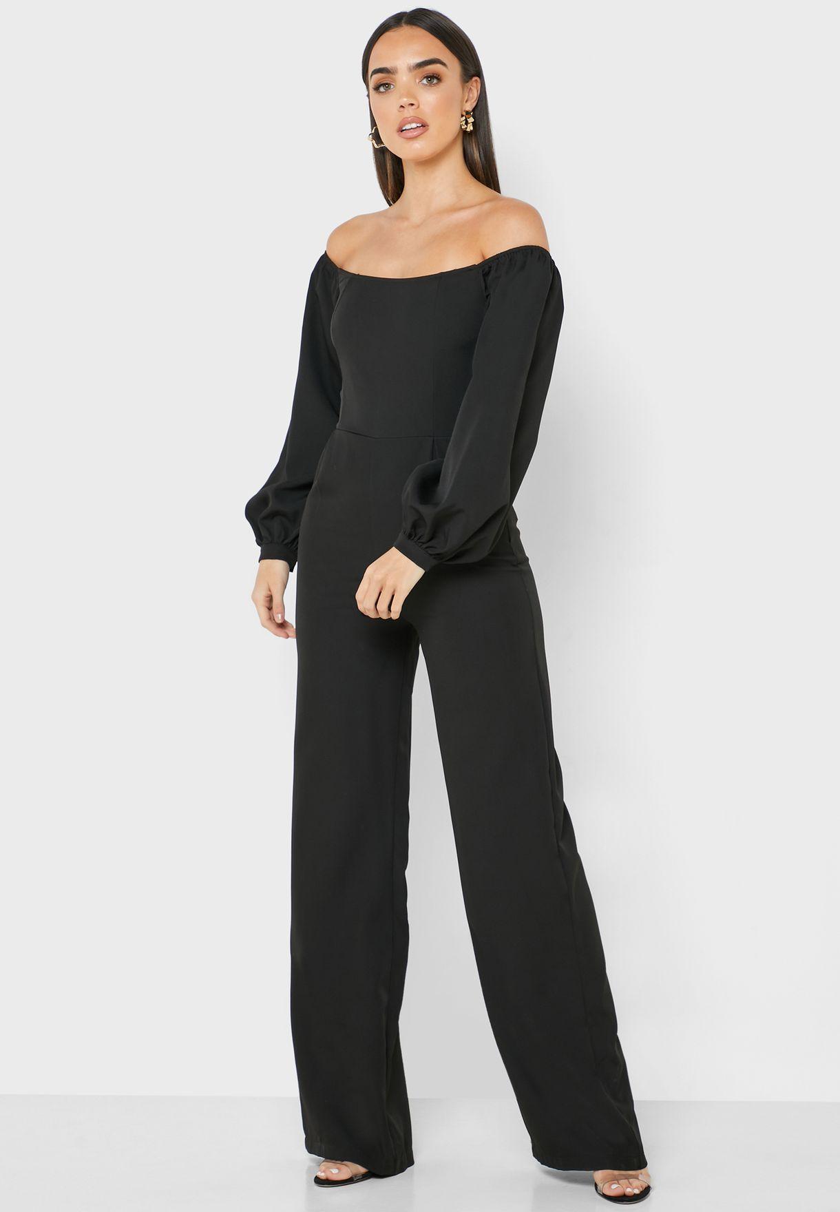 Bardot Lace Up Back Jumpsuit