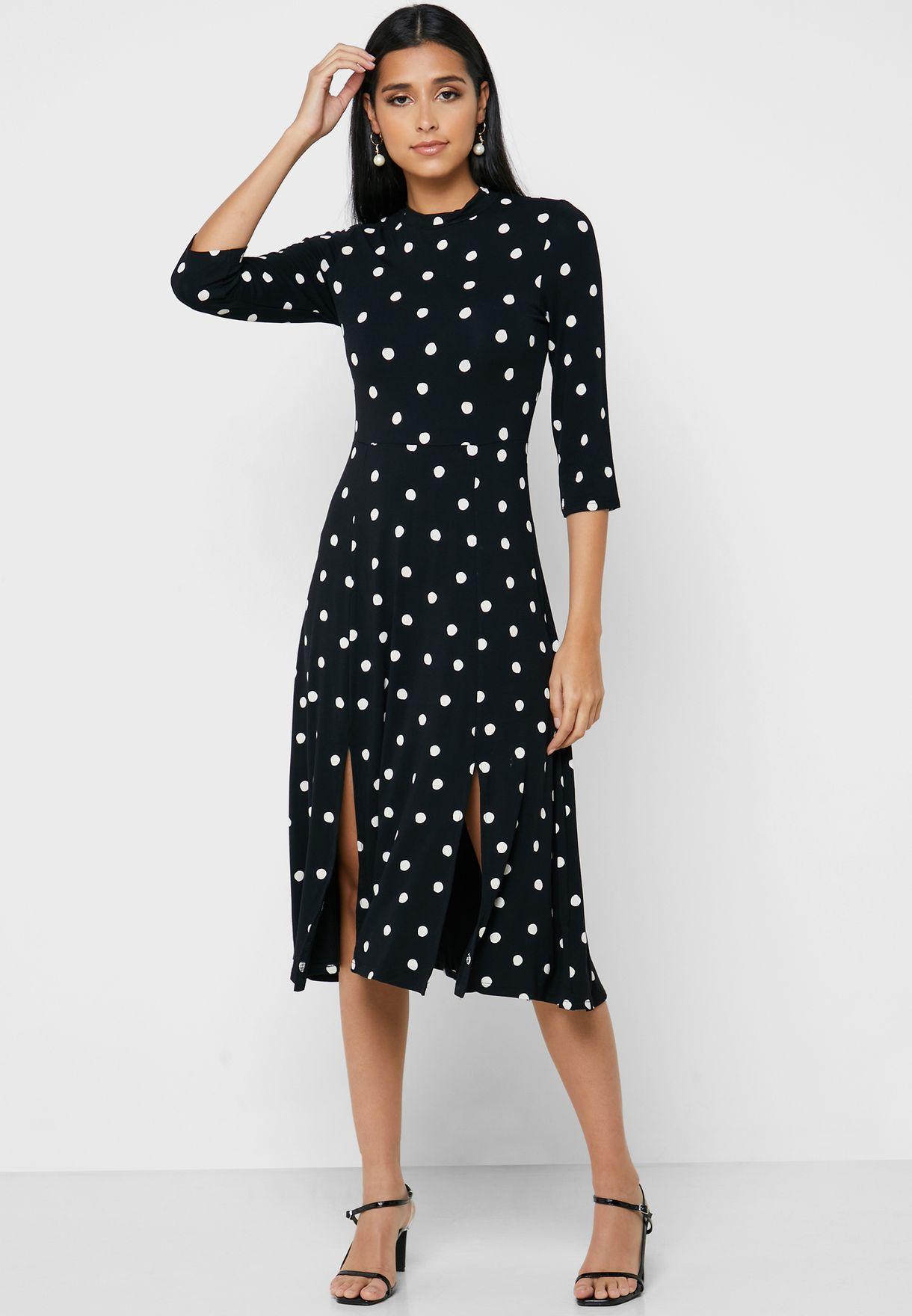 Side Slit Floral Print Dress