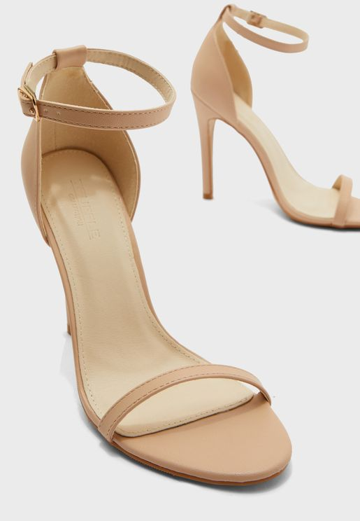 Barely There Ankle Strap Sandals