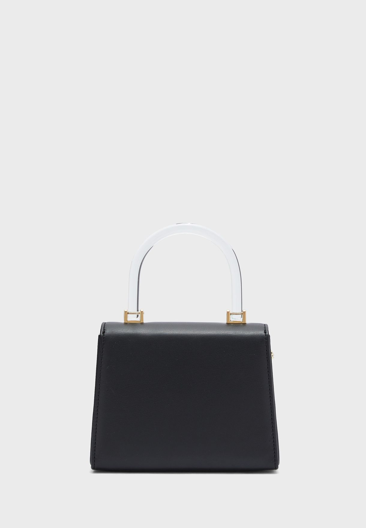 Nappa Round Handle Flap Crossbody