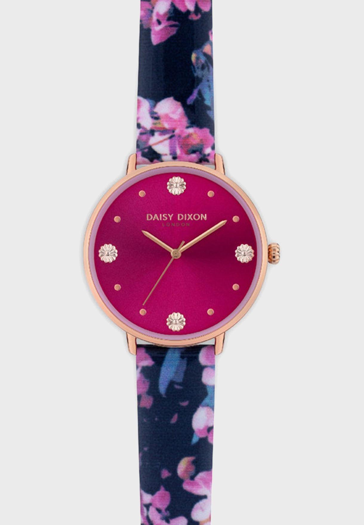 Kendall Quartz Analog Watch With Clutch