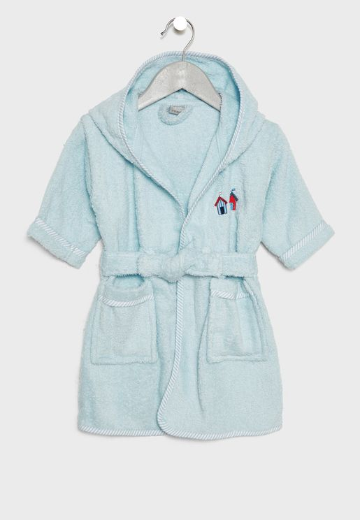 Infant Beach Houses Embroidered Bathrobe