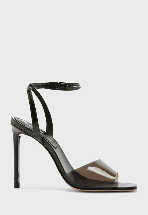 Ankle Strap Transparent Sandal