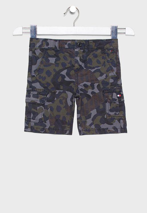 Kids Camouflage Cargo Shorts