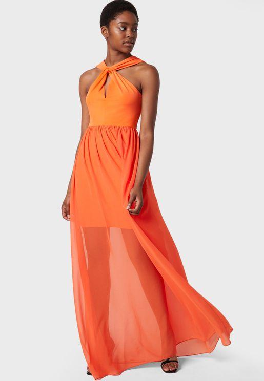 Panthea Halter Neck Dress