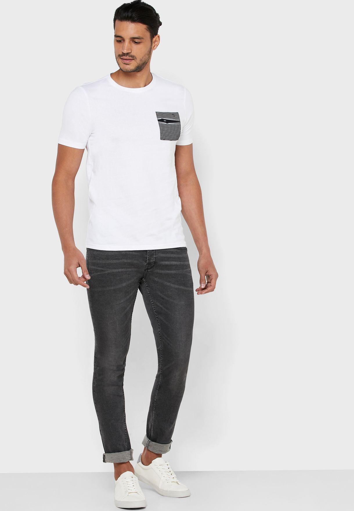 Aaren Fitted Crew Neck T-Shirt