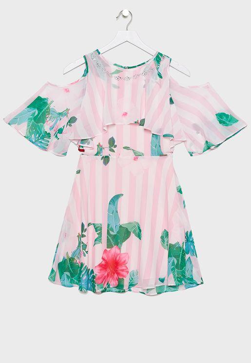 Kids Chiffon Floral Dress