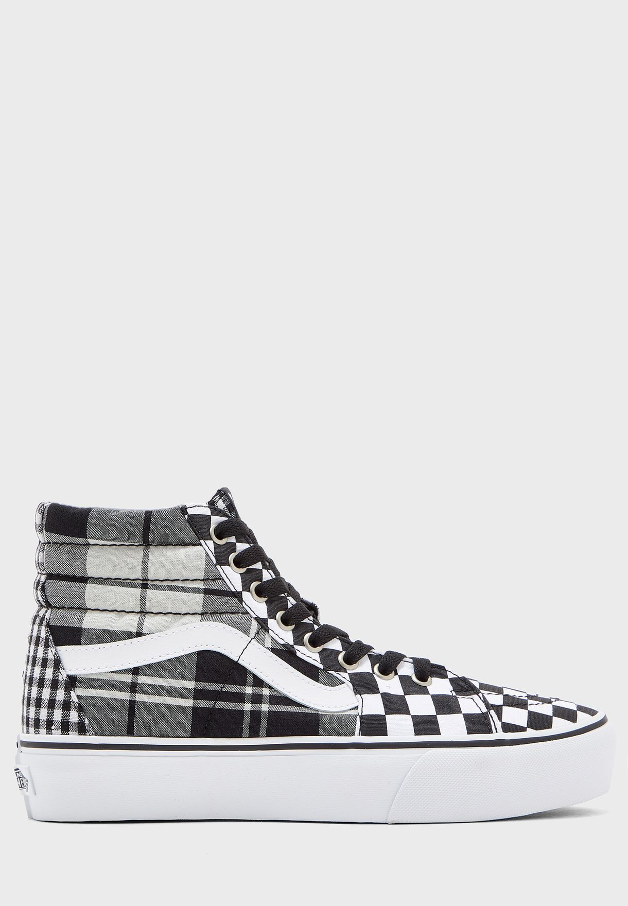 Plaid Checkerboard SK8-Hi Platform 2.0