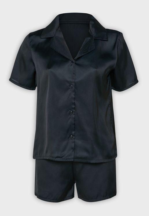 Shirt Pyjama Shorts Set