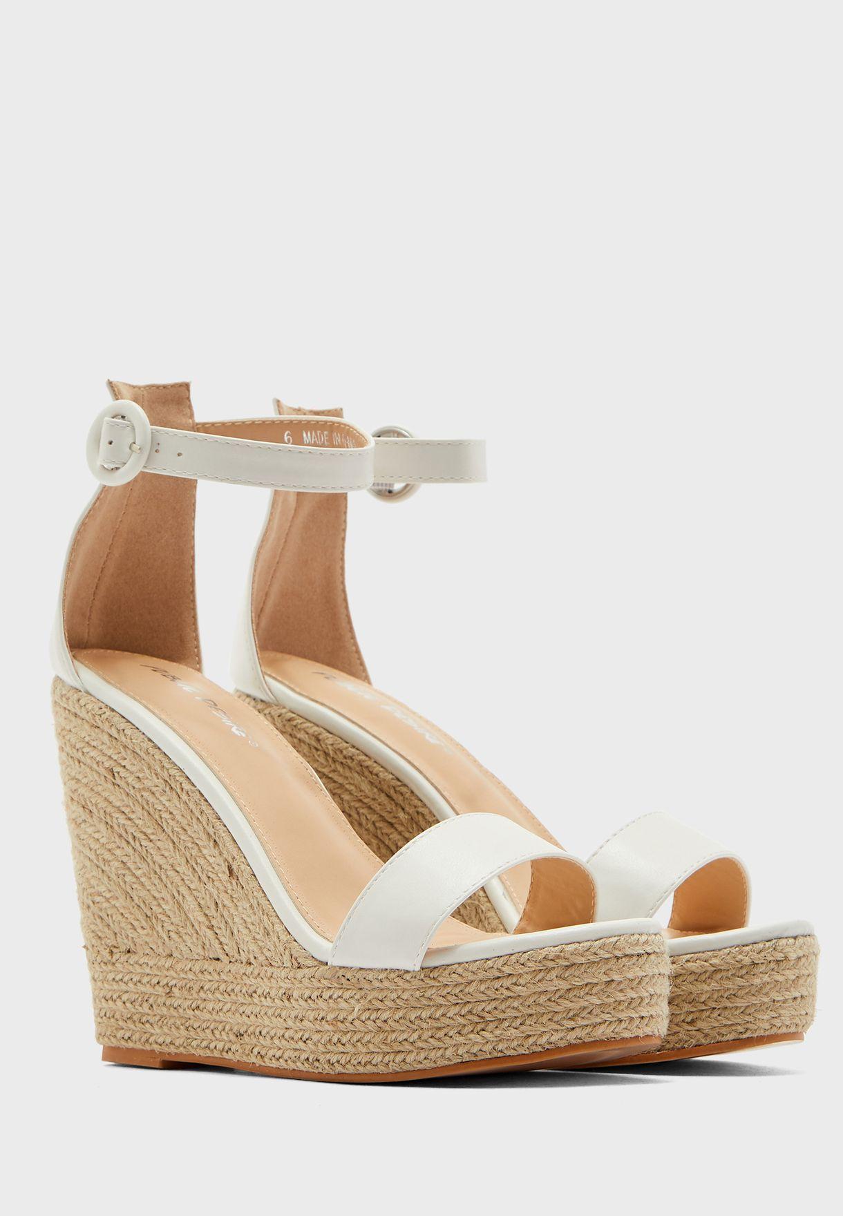 Espadrille Ankle Strap High Heel Sandal